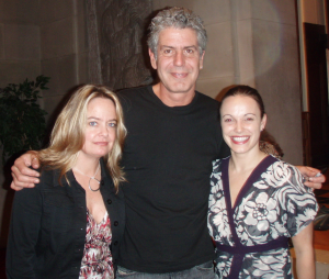 Me, Anthony Bourdain, and my friend Sara