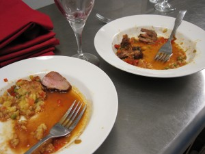 Duck Paella, after being inhaled by hungry waitstaff