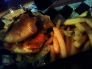 whiskey creek burger, half devoured . . .