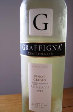 Graffigna Centenario Reserve Pinot Grigio 2010